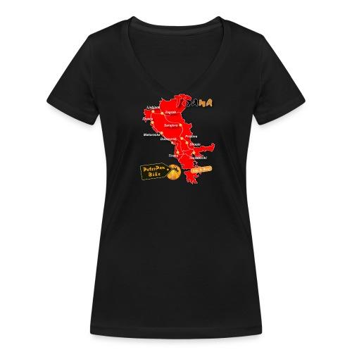 Tirana short for girls - Stanley & Stellan naisten v-aukkoinen luomu-T-paita
