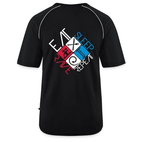 EatSleepRaveRepeat - Mannen voetbal shirt