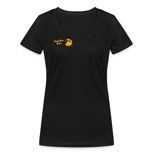PeterPanBike short for girls - Stanley & Stellan naisten v-aukkoinen luomu-T-paita