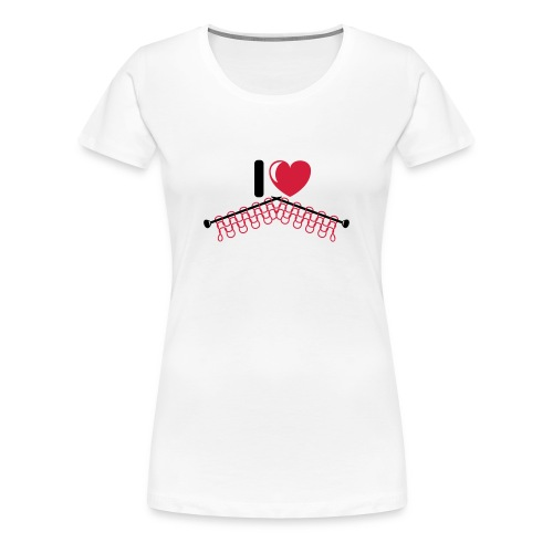 T-shirt voor breisters, kies je kleur! - Vrouwen Premium T-shirt