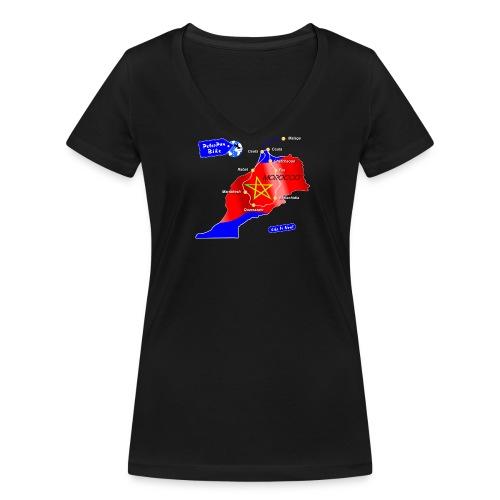 Marrakech short for girls - Stanley & Stellan naisten v-aukkoinen luomu-T-paita
