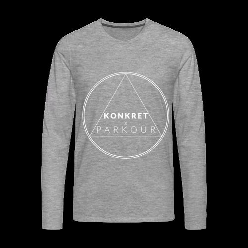 Geometri - Long Sleeve - Långärmad premium-T-shirt herr