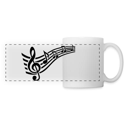 tasse note de music - Mug panoramique contrasté et blanc