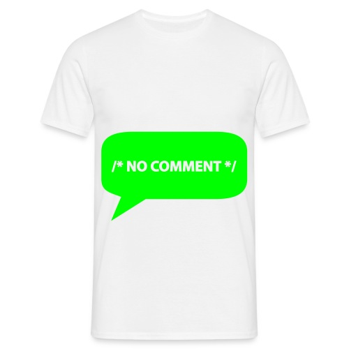 tee shirt no comment  - T-shirt Homme