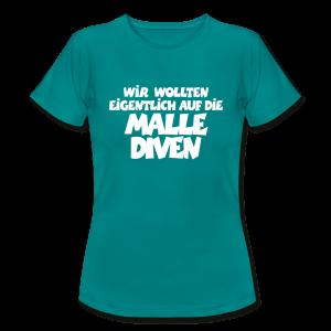 Mallediven Malle Team T-Shirt (Damen Divablau/Weiß) - Frauen T-Shirt