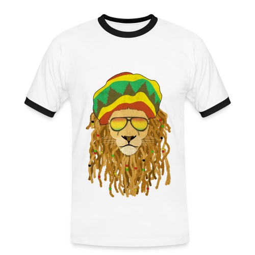 Lion dreadlocks - T-shirt contrasté Homme