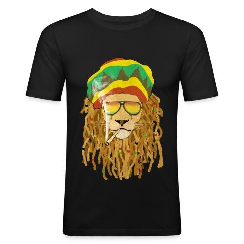 Lion dreadsmoke - T-shirt près du corps Homme