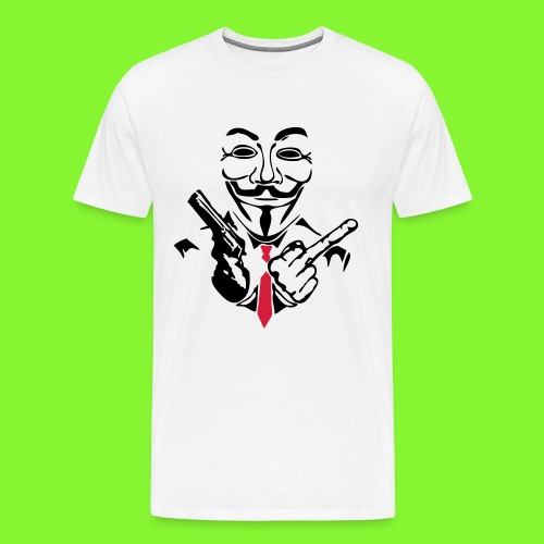 keyboard and gun - Men's Premium T-Shirt