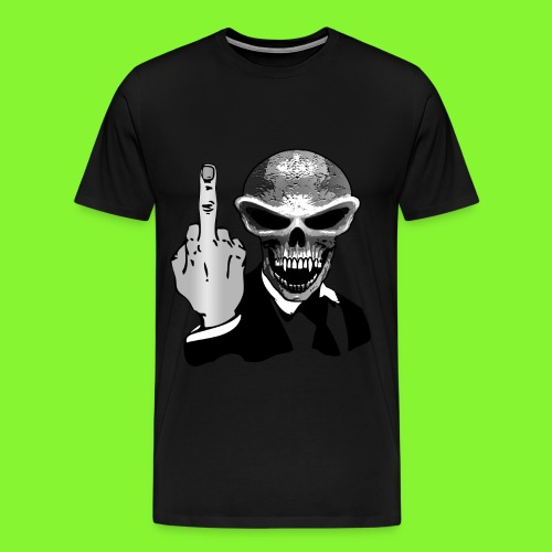 skull fuck off - Men's Premium T-Shirt