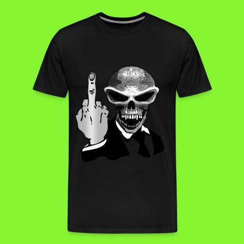 skull fuck off - Men's Premium T-Shirt
