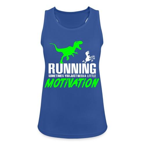 Running Sometimes You Just Need A Little Motivation Green/White - Treenitoppi - Naisten tekninen tankkitoppi