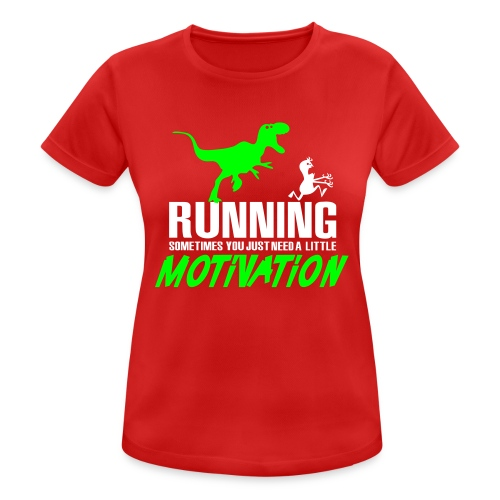 Running Sometimes You Just Need A Little Motivation Green/White - Treenitoppi - naisten tekninen t-paita