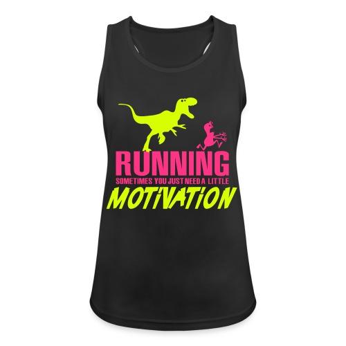 Running Sometimes You Just Need A Little Motivation Pink/Yellow - Treenitoppi - Naisten tekninen tankkitoppi