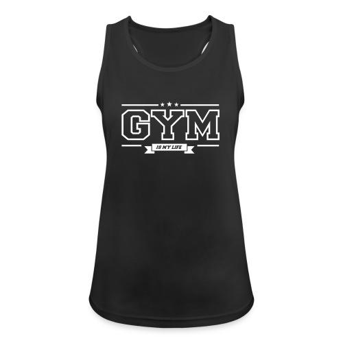 Gym Is My Life White  - Treenitoppi - Naisten tekninen tankkitoppi