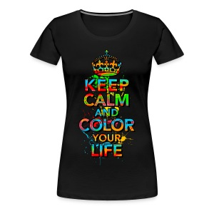 KEEP CALM, music, cool, text, sports, love, retro T-Shirts - Women's Premium T-Shirt