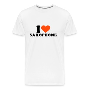 I Love Saxophone M - Men's Premium T-Shirt