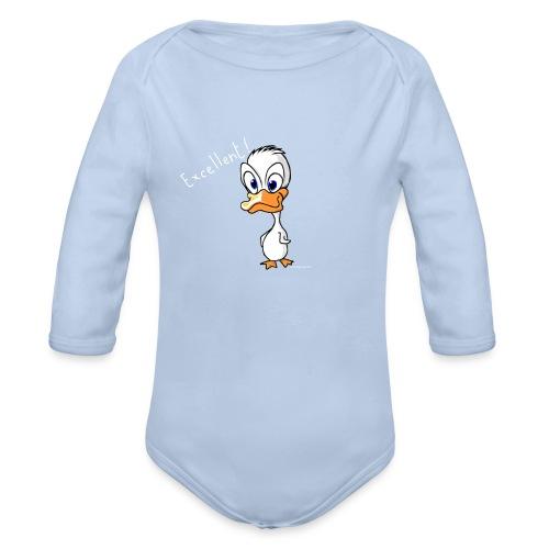 Excellent le canard ! - Body bébé bio manches longues