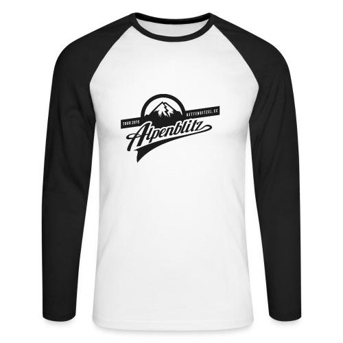 Alpenblitz Langarm - Männer Baseballshirt langarm