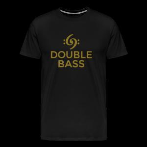 Kontrabass T-Shirt Double Bass Gold - Männer Premium T-Shirt