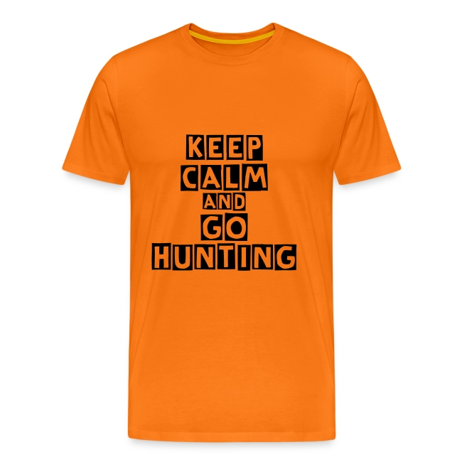 """T-shirt """"Keep calm and go hunting"""""""
