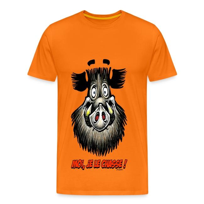 "T-shirt ""Moi je le chasse"""