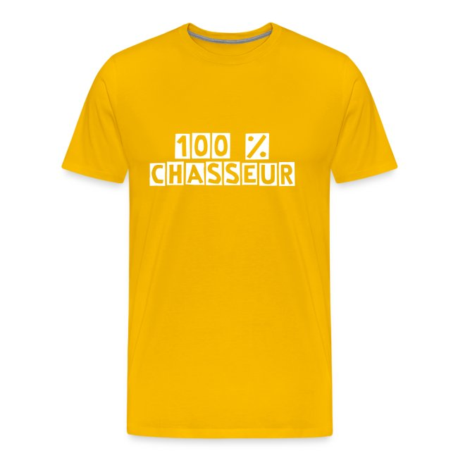 "T-shirt ""100% chasseur"""