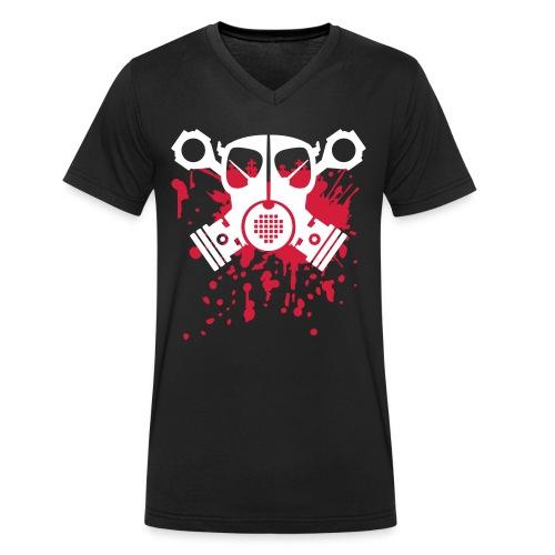 Skull - black - Männer Bio-T-Shirt mit V-Ausschnitt von Stanley & Stella