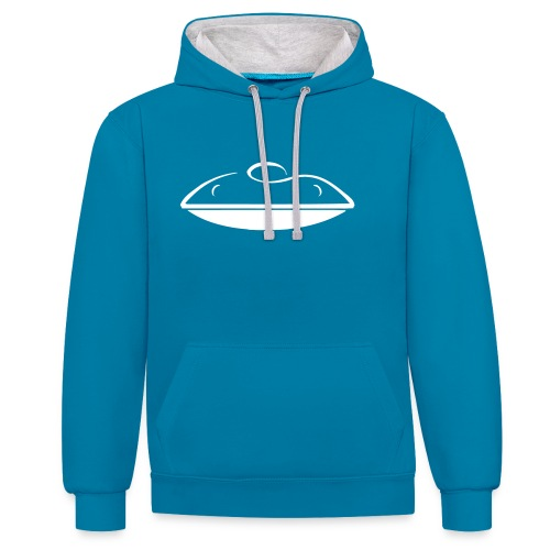 Contrast Colour Hoodie