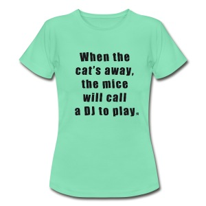 Cat LS Woman Black - Women's T-Shirt