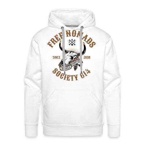 FN White Hoodie - Men's Premium Hoodie