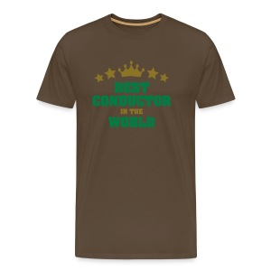 Best Conductor In the World - Men's Premium T-Shirt