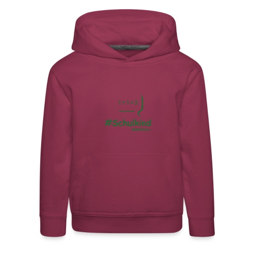 #Schulkind Kapuzenpullover (110-164) - Kinder Premium Hoodie