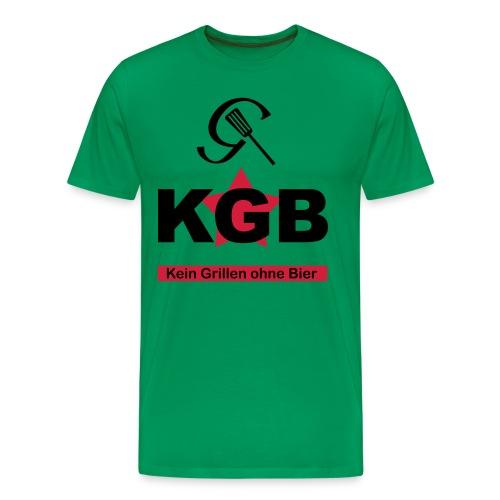 KGB - Kein Grillen ohne Bier - Männer Premium T-Shirt