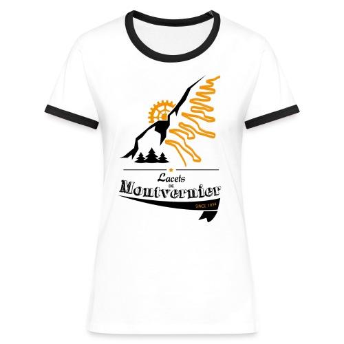 Lacet de Montvernier - noir/blanc - T-shirt contrasté Femme