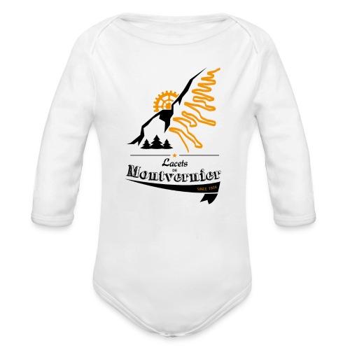 Lacets de Montvernier - manches longues - Body bébé bio manches longues