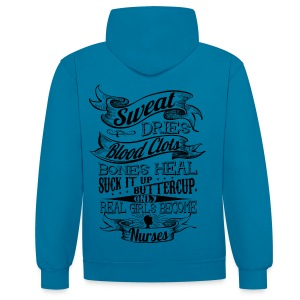 real_girls_become_nurse hoodie - Contrast Colour Hoodie