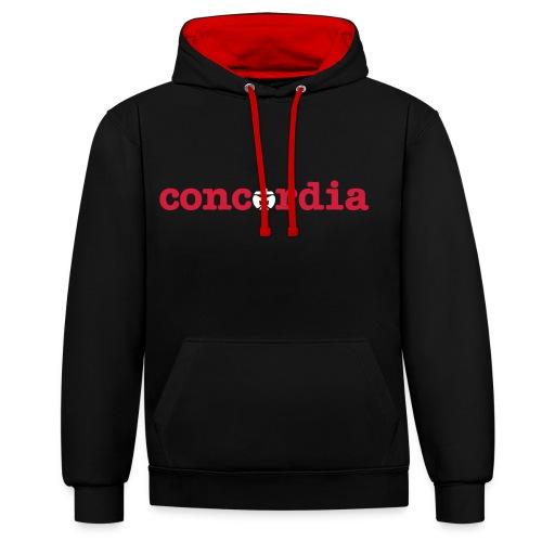 concordia Pulli - Kontrast-Hoodie