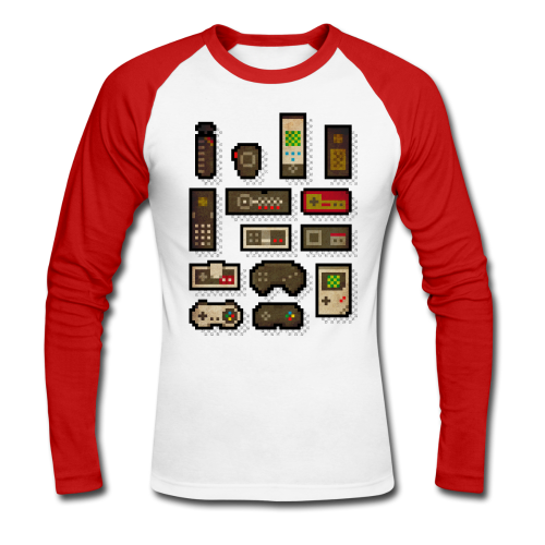 Pixelcontrol - Men's Long Sleeve Baseball T-Shirt