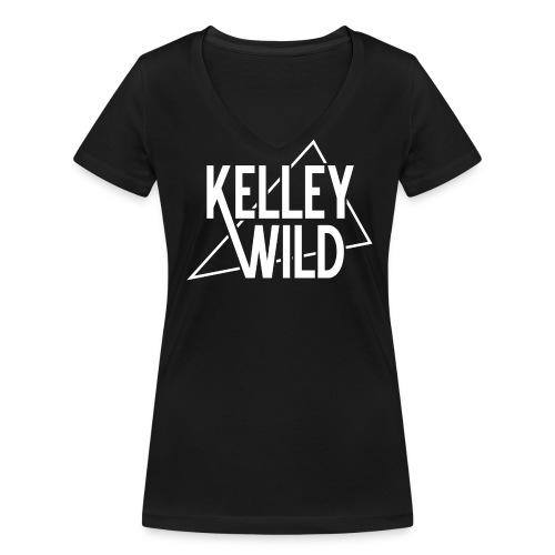 Ladys Shirt The Wedge White - Frauen Bio-T-Shirt mit V-Ausschnitt von Stanley & Stella