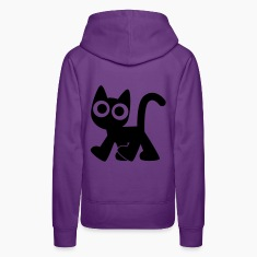 Cute Walking Cartoon Cat by Cheerful Madness!! Hoodies & Sweatshirts