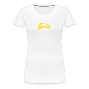 BSM Girls orange/weiß - Frauen Premium T-Shirt