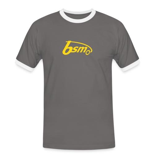 BSM 2Tone-T grau/orange - Männer Kontrast-T-Shirt