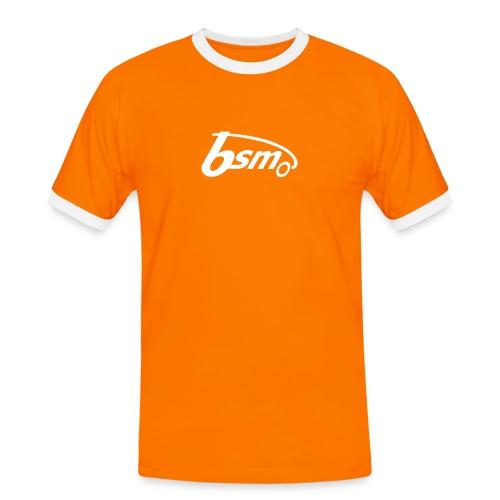 BSM 2Tone-T orange/weiß - Männer Kontrast-T-Shirt