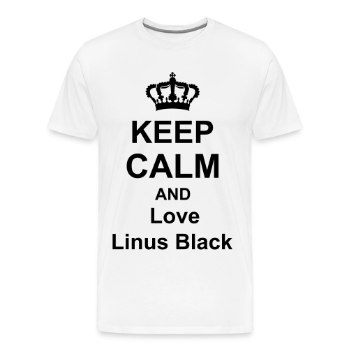 Keep Calm Linus Black Frauen - Männer Premium T-Shirt