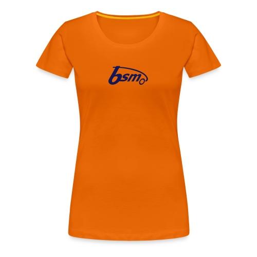 BSM Girls-T orange/dunkelblau - Frauen Premium T-Shirt