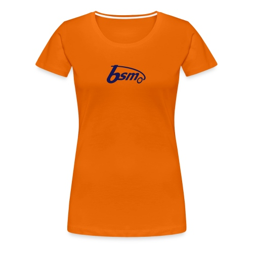 BSM Girls-T orange/dunkelblau - Frauen Premium T-Shirt