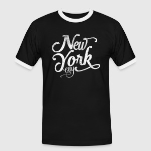 New York City typografi T-shirts - Kontrast-T-shirt herr