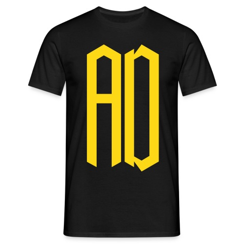 AD Homme NOIR & JAUNE - T-shirt Homme