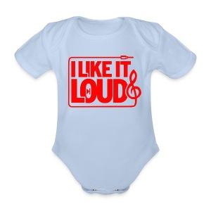 I Like it LOUD - Baby bio-rompertje met korte mouwen