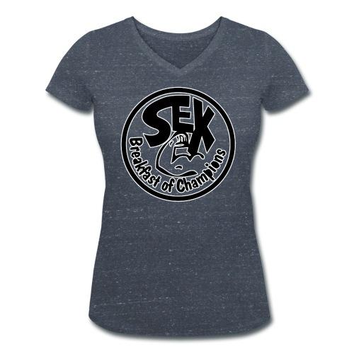 Sex Breakfast of Champions  - Vrouwen bio T-shirt met V-hals van Stanley & Stella